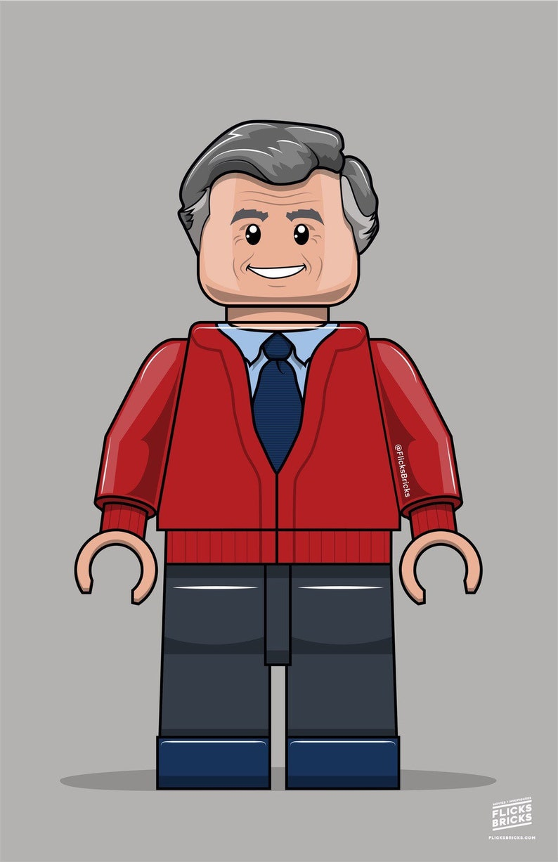 FlicksBricks: Mr. Rogers  Custom Lego Art  Mr. Rogers image 0