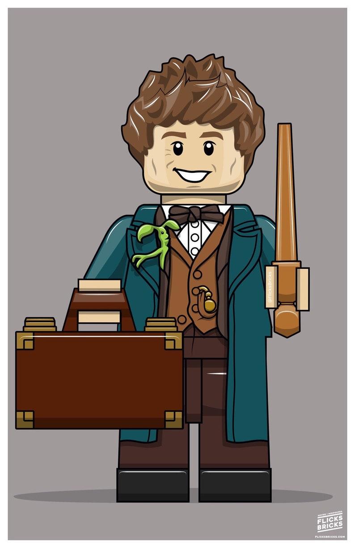 FlicksBricks: Newt Scamander  Custom Lego Art  Hogwarts  image 0