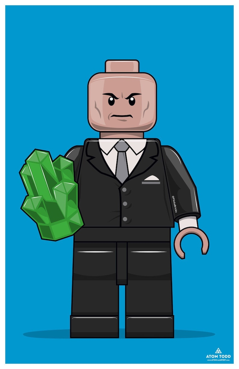 FlicksBricks: Lex Luthor  Custom Lego Art  Superman  DC  image 0