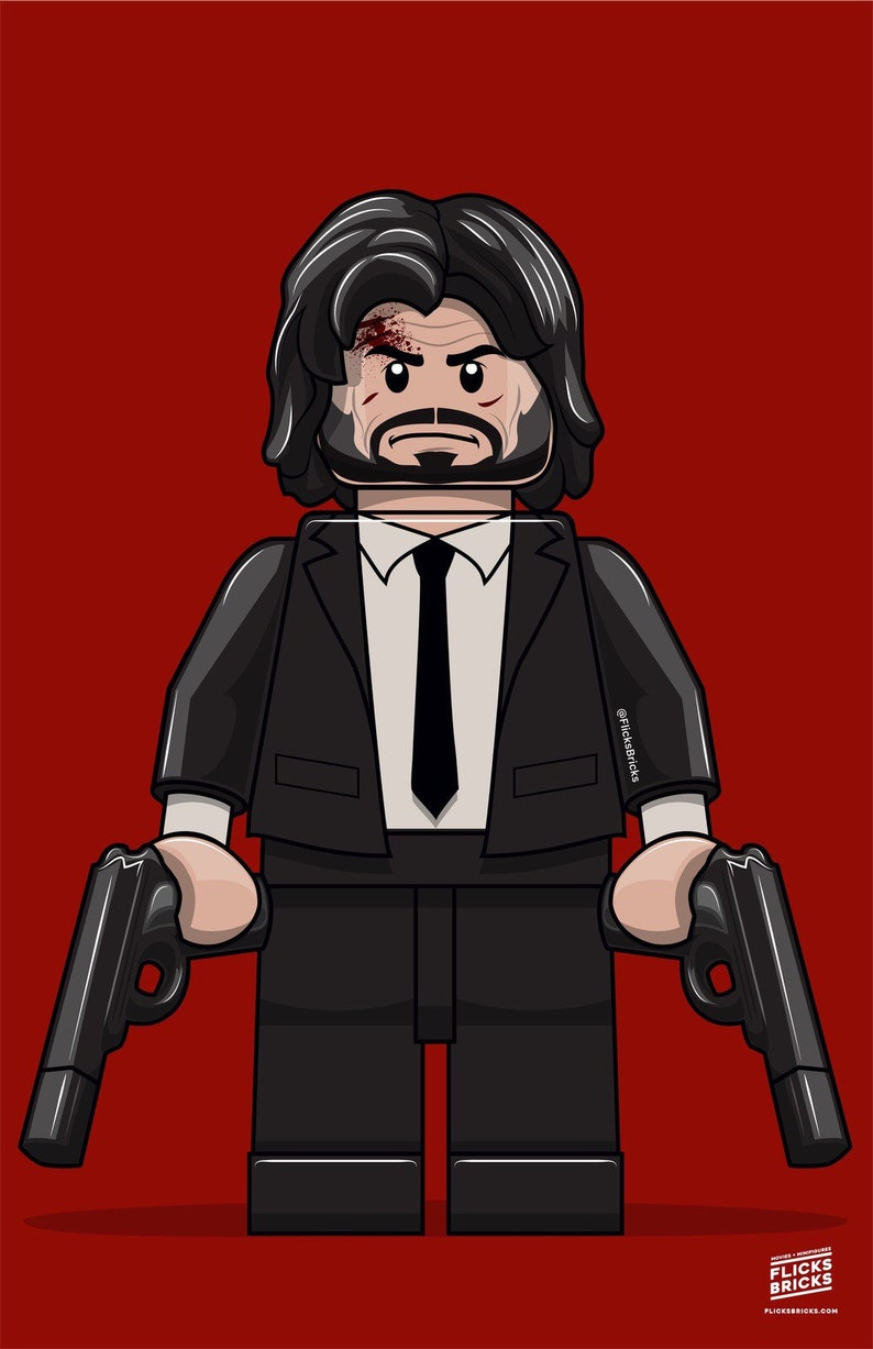 FlicksBricks: John Wick  Custom Lego Art  Keanu Reeves  image 0