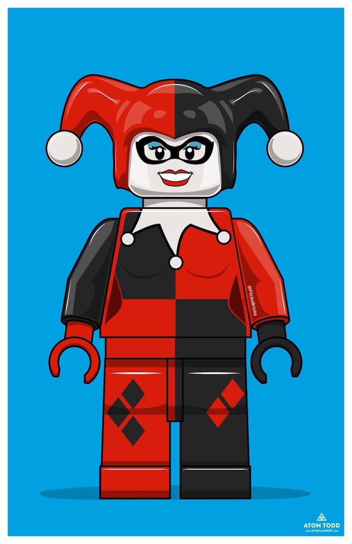FlicksBricks: Harley Quinn  Custom Lego Art  Batman the image 0