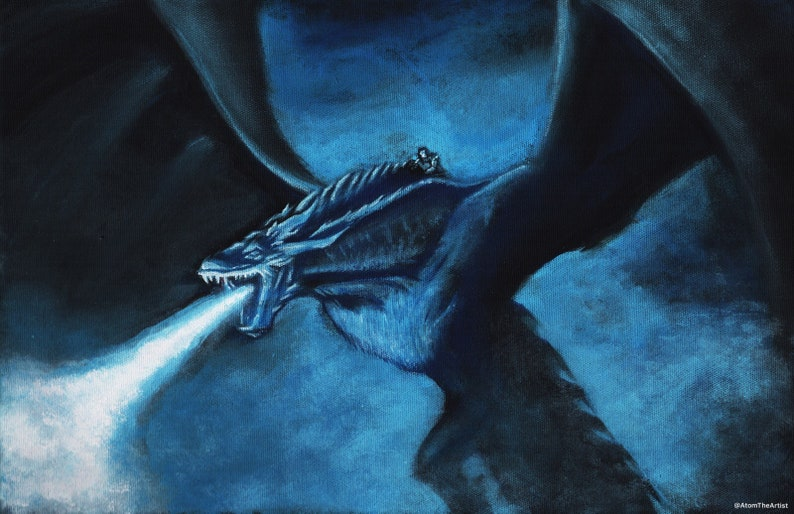 Viserion the Ice Dragon & Night King  Game of a Thrones  image 0