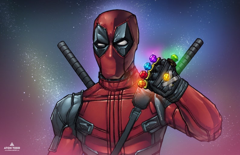 Deadpool Infinity Gauntlet Ringpops  11x17 Poster image 0