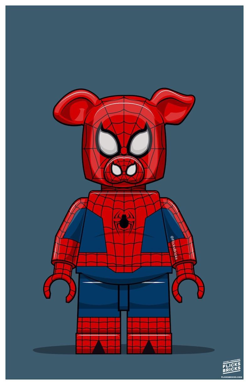 FlicksBricks: SpiderHam  Custom Lego Art  Marvel  Into the image 0