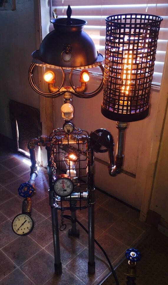 Sold Steampunk Lampindustrial Lampsteampunk Etsy