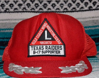 sports shoes eeaa4 70588 Texas Raiders B-17 Supporters Mesh Trucker Hat Snapback Green