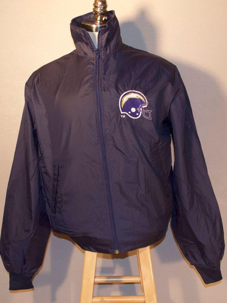 reputable site 70c89 f0e71 80's San Diego Chargers Logo 7 Windbreaker Jacket Blue Nylon Los Angeles  NFL Football