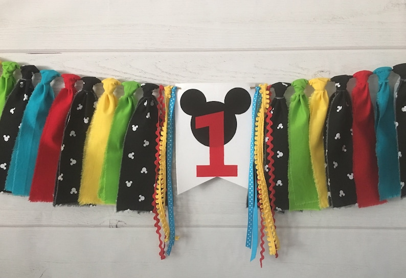 Mickey Mouse Clubhouse Birthday Banner Highchair