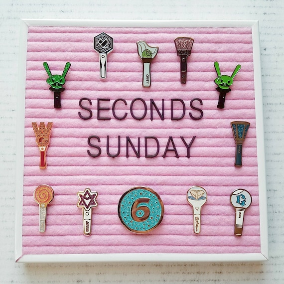 Seconds Sunday] Discounted Kpop Seconds Pins With Flaws Or Minor Defects | Non Returnable by Etsy