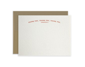 Letterpress Thank You Notecards, Minimalist Thank You Cards, Card Set, Boxed Cards