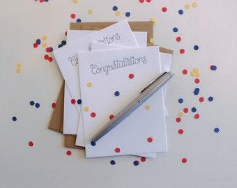 Congratulations Letterpress Notecard