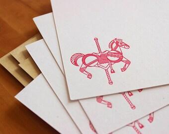 Carousel Horse Notecard