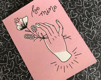 Be Mine | Valentine Greeting Card | A2 |