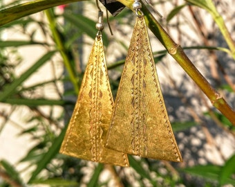 Traditional African Bronze Earrings - Handmade in Burkina Faso