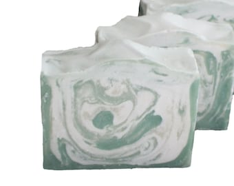 Peppermint Goat Milk Soap | Essential Oil | Handmade in Colorado | Olive Oil Soap | Cold Process Soap | Gift for Her | Free Shipping