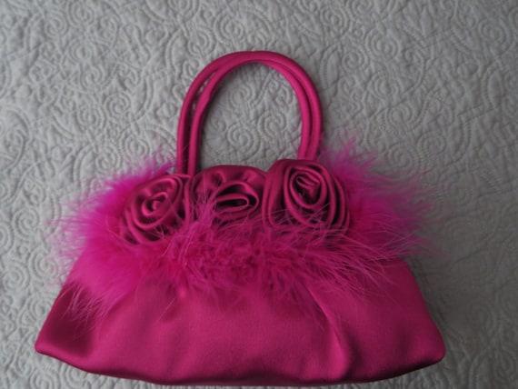 Jessica McClintock Fuscia Evening Bag