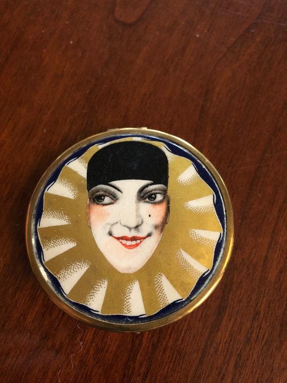 Tokalon Art Deco Pierrot Compact 1930s