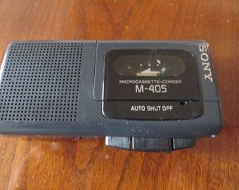 Sony Microcassette M-405 Recorder Auto Shut Off