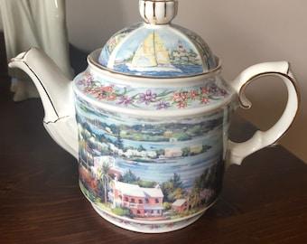 Vintage James Sadler Made In England Salt Kettle View Bone China Teapot