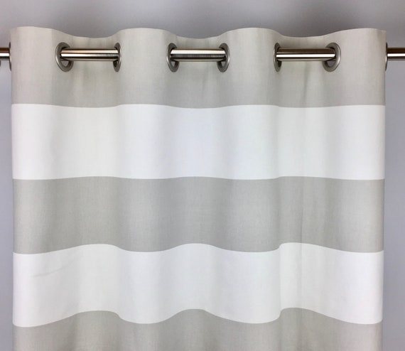 White Horizontal Striped Curtains Free, Grey Striped Curtains