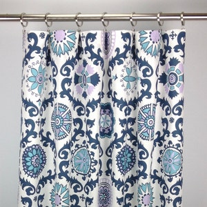 Light Sage Green Damask Curtains 63 84 96 108 120 Light Green and White Curtains Cecilia Artichoke Rod-Pocket Curtains FREE SHIPPING