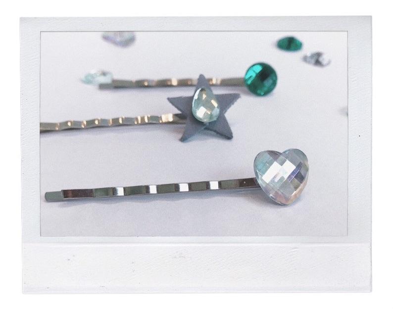 Hair pin set MERCURY Crystal hair clip Glass hair bobby pin,Rhinestone hair pin set