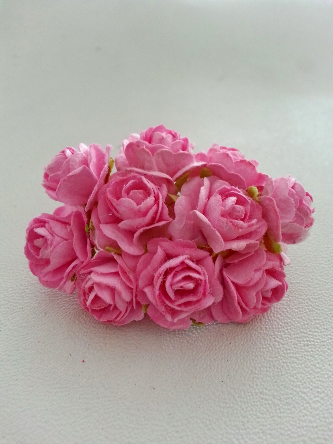 60 Pcs Mini Roses Mulberry Paper Flower Pink Color 2 Etsy