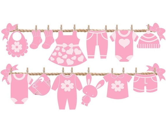 Ideas Para Baby Shower Nina Decoracion.Decoraciones Para Baby Shower De Nina Ideas De Decoracion Para Baby Shower Adornos De Pared Fiesta Banner Rosa Tendedero De Ropa