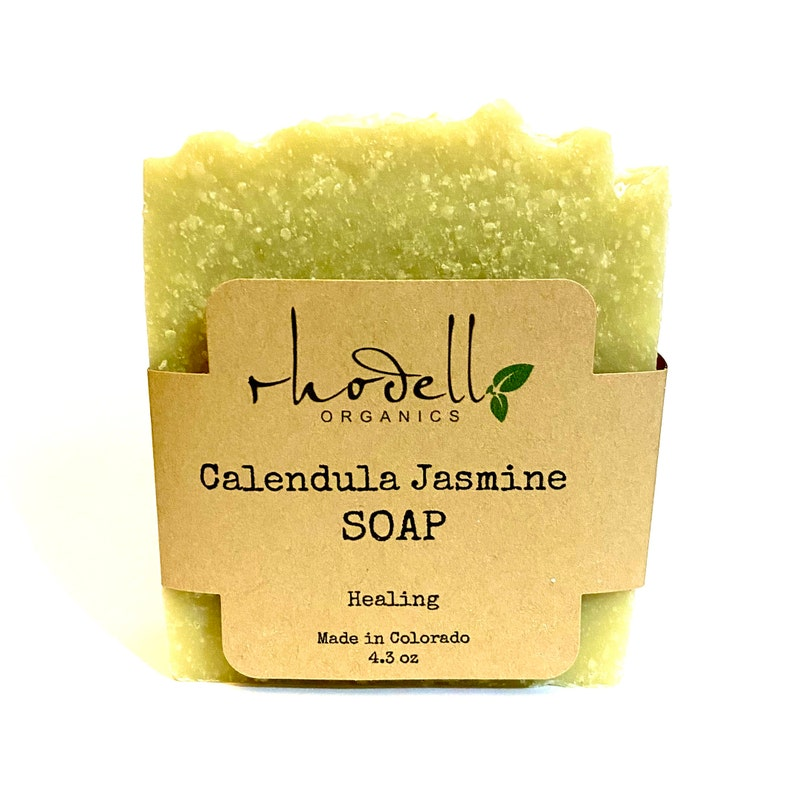 Soap Calendula Body Soap Organic Soap Body wash Jasmine image 0