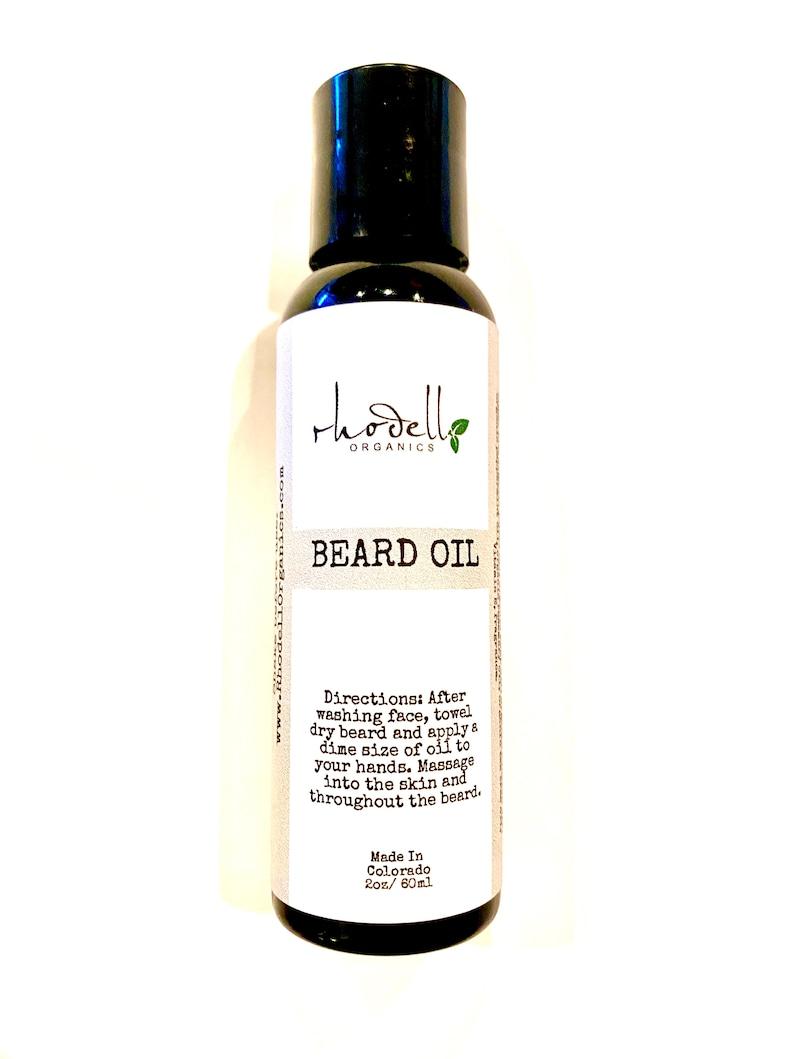 Beard Oil Organic Mustache Oil Moisturize Strengthen image 0