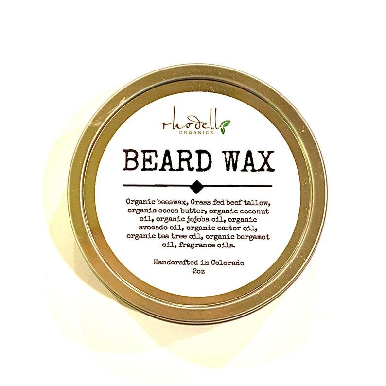 Beard Balm Tallow Organic Pomade Hair style Beard Wax image 0