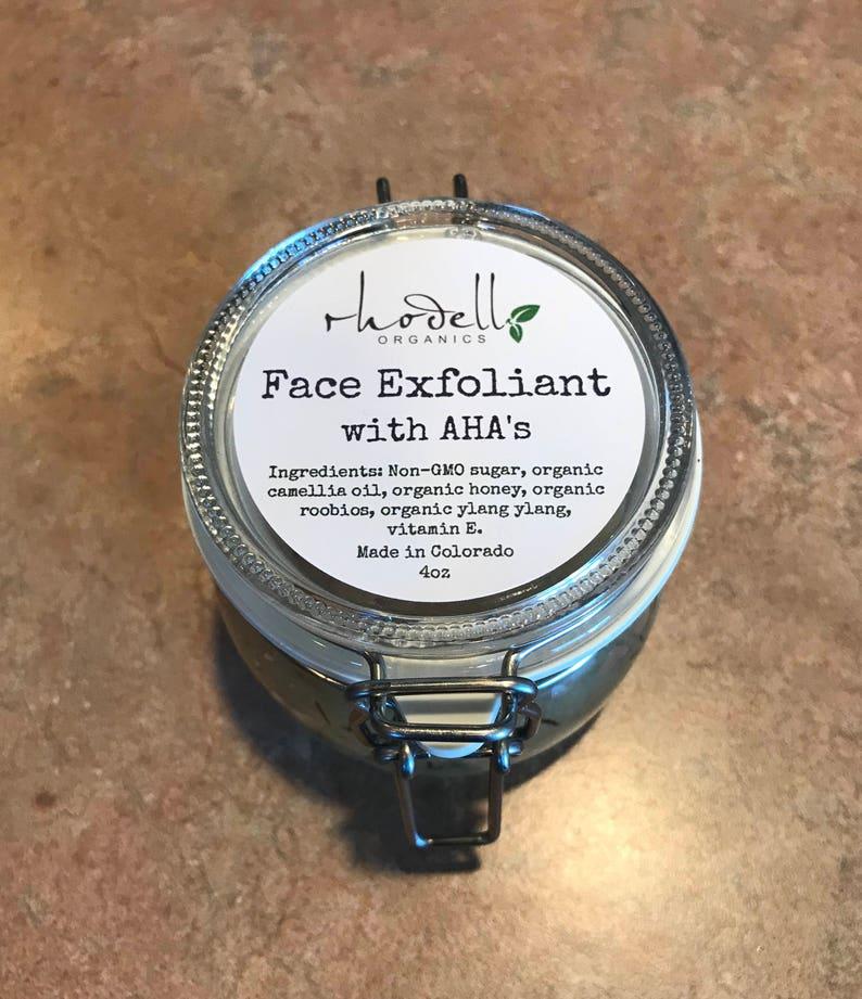 Face scrub Exfoliating scrub Face exfoliant Sugar scrub image 0