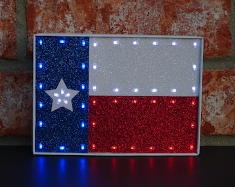 Texas Decor   Texas Gifts   Lighted Decorative Texas Flag   Light Up Texas  Flag   Lone Star Decor