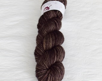 CHUCKY - Old Wood - hand dyed superwash merino yarn, chunky weight, knitting, crochet