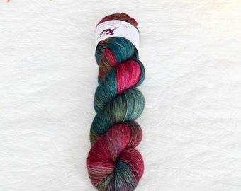 YAK SOCK - Vintage Christmas - hand dyed sock yarn, blend of merino wool and nylon, plied, for knitting crochet