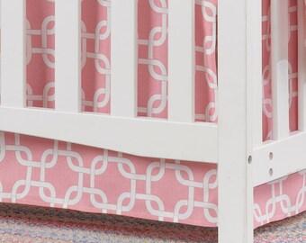 Pink Metro Crib Skirt