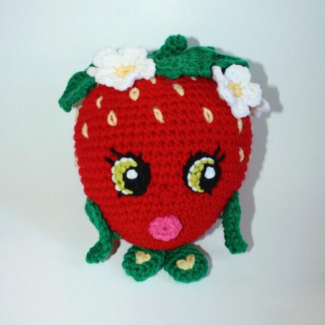 Shopkins Crochet Pattern Strawberry Kiss Crochet Pattern Etsy