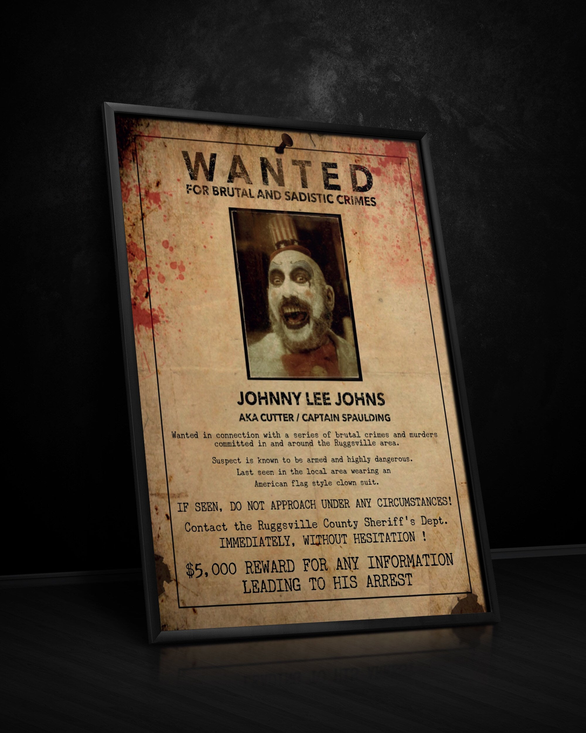 Captain Spaulding Wanted Poster House Of 1000 Corpses The Etsy
