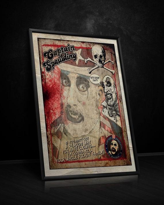 Captain Spaulding Print House Of 1000 Corpses Devils Etsy