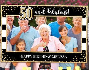 50th Birthday Frame Etsy