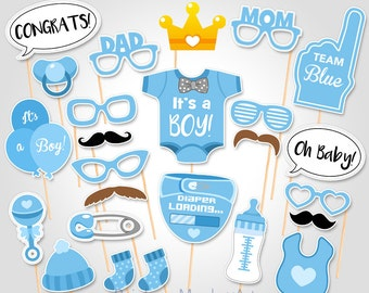 picture relating to Free Printable Baby Shower Photo Booth Props named Image booth props child shower Etsy