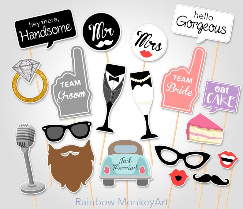 picture relating to Free Printable Wedding Photo Booth Props named Printable Wedding ceremony Picture Booth Props - Marriage Image Booth Props - Marriage Occasion Photobooth Props - Bridal Shower Occasion Props