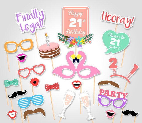 photo about Printable Photo Booth Props Birthday named 21st Birthday Social gathering Printable Picture Booth Props - Birthday Bash Photobooth Props - Electronic Obtain Birthday Social gathering Image Booth Prop