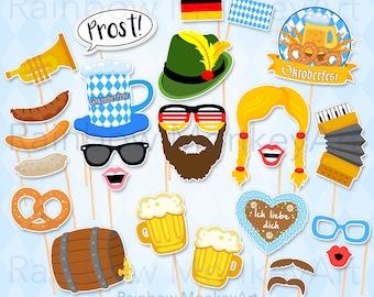 Printable Oktoberfest Photo Booth Props - Oktoberfest Photobooth Props - Oktoberfest Bavarian Photobooth Props - German Oktoberfest