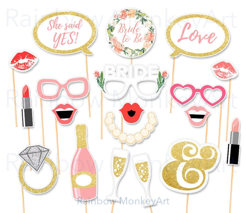 photo regarding Free Printable Bridal Shower Photo Booth Props named Printable Bridal Shower Photograph Booth Props - Chicken Celebration Photobooth Props - Marriage ceremony Bash Image Booth Props - Bachelorette Get together Props