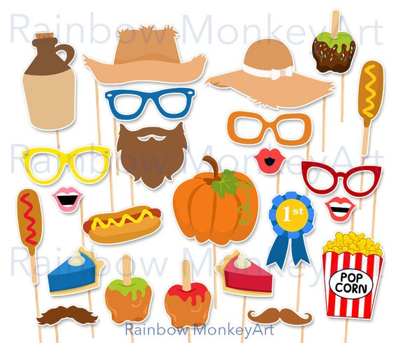 Printable County Fair Photo Booth Props Fall Festival Etsy