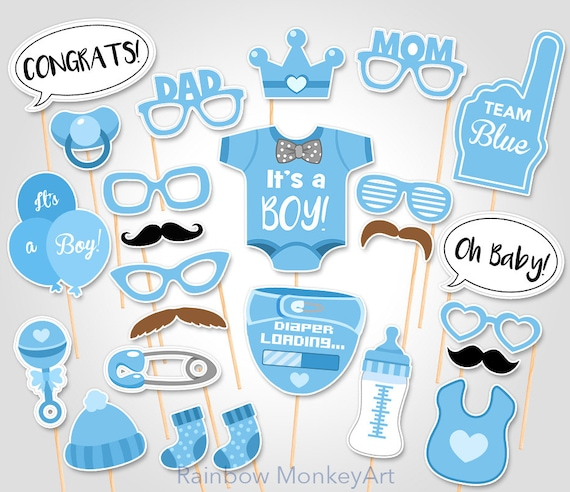 baby shower photo booth props printable photo booth props etsy