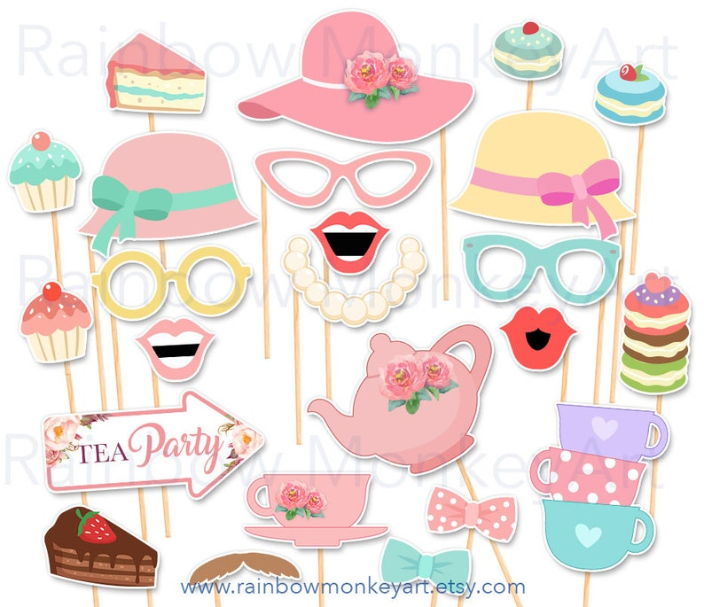 photo relating to Tea Party Printable titled Tea Celebration Photograph Booth Props - Printable Tea Social gathering Picture Booth Props - Tiny Woman Tea Occasion Printable Props - Tea Bash Printable