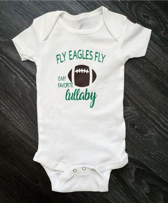 Philadelphia Eagles Baby Personalize Baby Bodysuit  Toddler T-Shirt Philadelphia Eagles Black Bodysuit