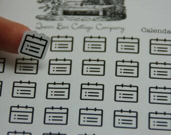 30 Calendar/Planner Stickers - Planner/Calendar/Icon Stickers - Back to School/College -ECLP Day Designer Filofax- Made in Medina, Ohio, USA